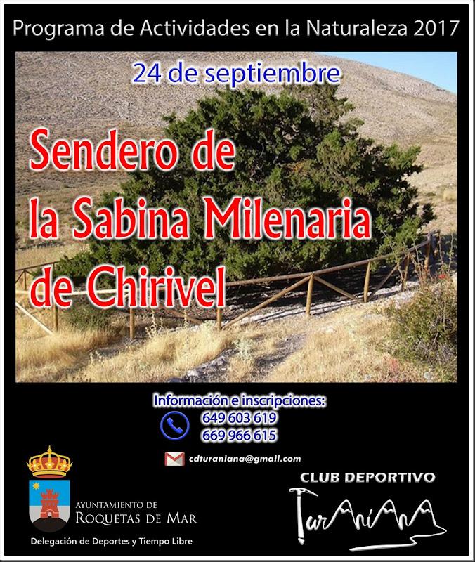 Cartel Sendero de la Sabina de Chirivel Ayuntamiento