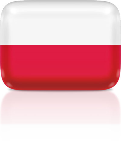 Polish flag clipart rectangular