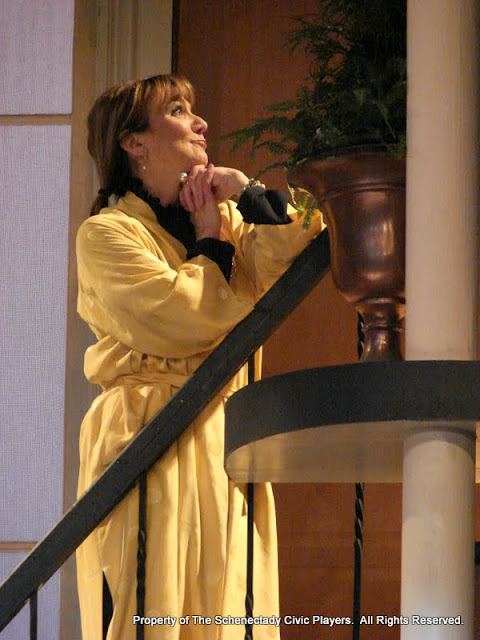 Benita Zahn in THE ROYAL FAMILY (R) - December 2011.  Property of The Schenectady Civic Players Theater Archive.