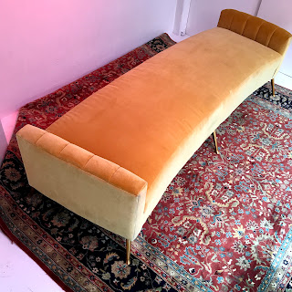 Brookline Gold Mohair Chaise