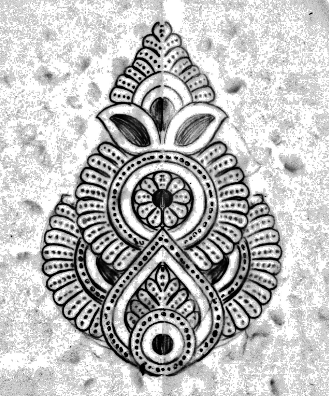 Banarasi sari khaka sketch for hand embroidery/ buti embroidery sarees designs.