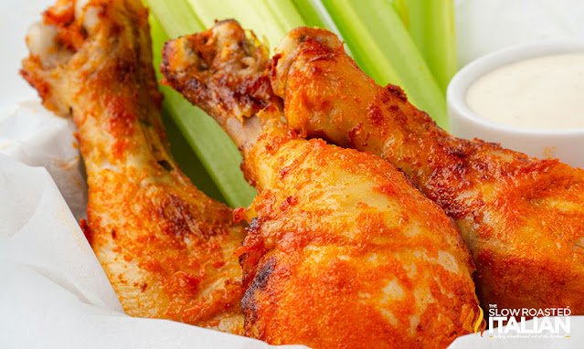 Air Fryer Chicken Legs close up