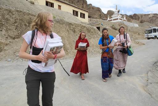 Healthy Body, Healthy Mind book distribution in Zanskar, India, June 2012. Photo by Marlies Bosch.