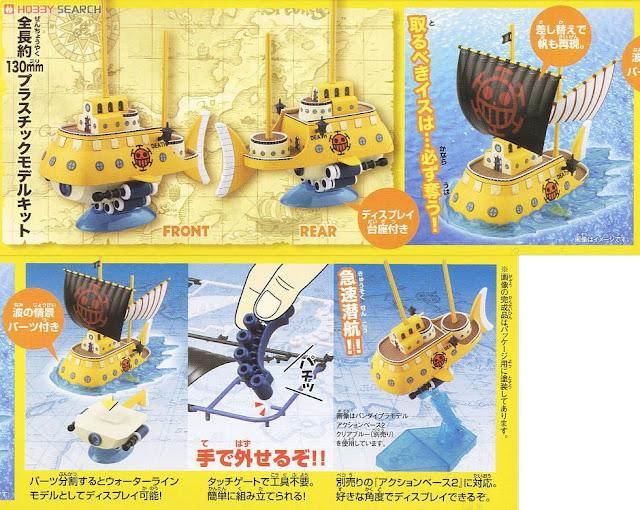 Đồ chơi tàu One Piece Trafalgar Law's Submarine dành cho trẻ em trên 8 tuổi