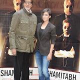 OIC - ENTSIMAGES.COM - Amitabh Bachchan and Akshara Haasan at the Shamitabh Press Call St James London 27th January 2015 Photo Mobis Photos/OIC 0203 174 1069
