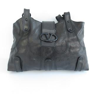 Valentino Black Leather Tote