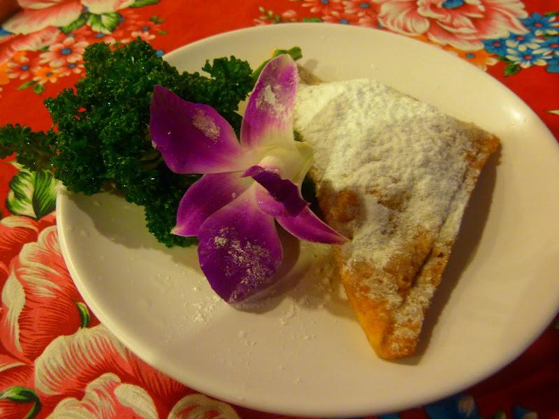 Taipei. Cuisine du Shanxi. Fourrée au fromage, saupoudrée de sucre glace... délicieux