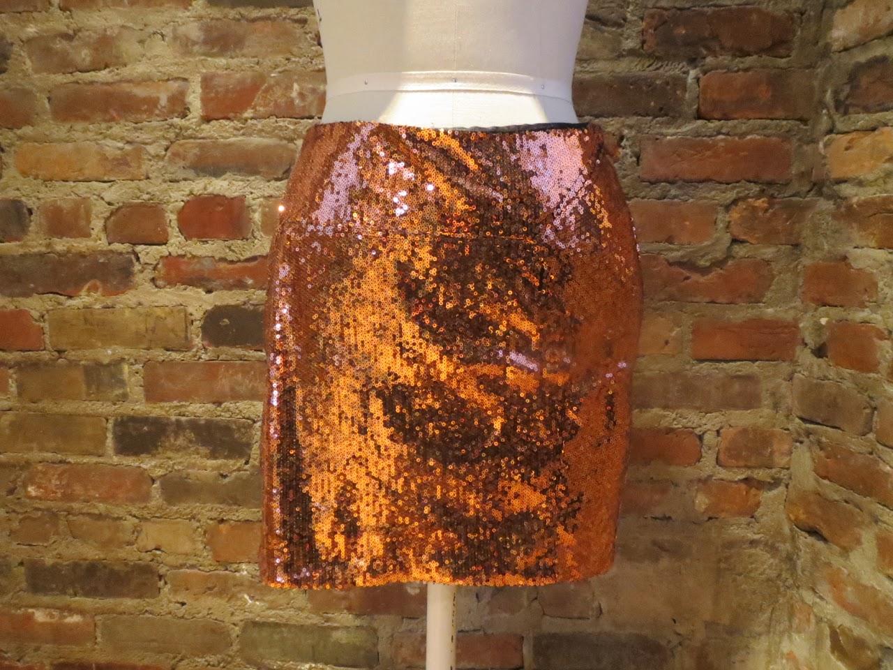 Diane von Furstenberg Bronze Sequin Skirt