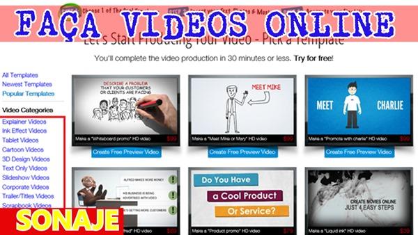 como fazer vídeo online