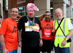 Dave, some pig dude, Gustavo and Bob before the 10K.