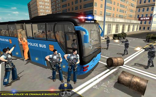 US Police Bus Transport Prison Break Survival Game 4.0 screenshots 5
