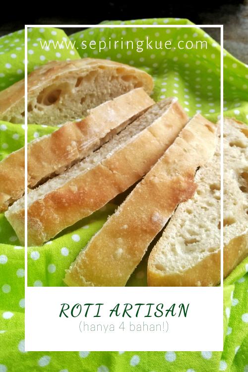 resep roti artisan hanya 4 bahan