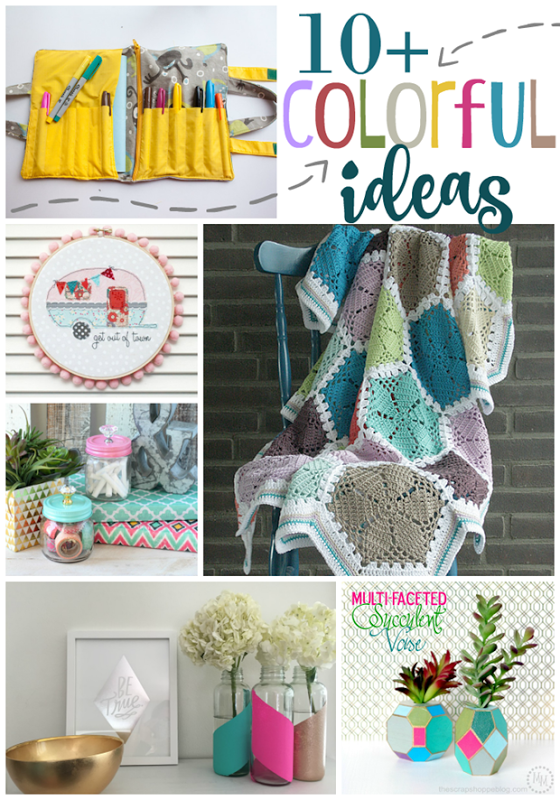 Over 10 Colorful Ideas at GingerSnapCrafts.com #linkparty #colorful #colormakesmehappy_thumb[1]