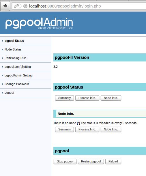 tampilan diatas menunjukkan pgpool sudah terinstall, dan pgpooladmin juga sudah terinstall | wirabumisoftware.com