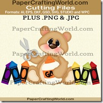 Bear w school supplies ppr cfb 450