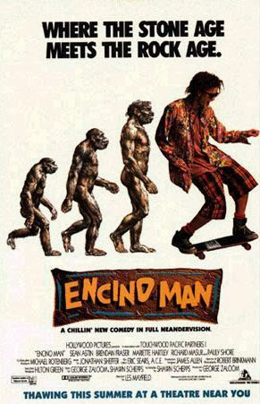 Poster Of Encino Man (1992) Full Movie Hindi Dubbed Free Download Watch Online At Alldownloads4u.Com