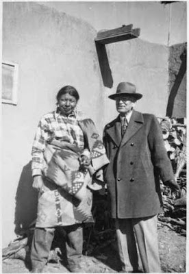Victor Higgins and Governor Lujan at Taos Pueblo