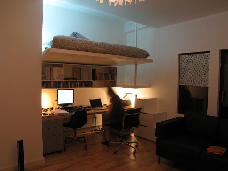 adult loft bed & desk  Favorite Places & Spaces  Pinterest