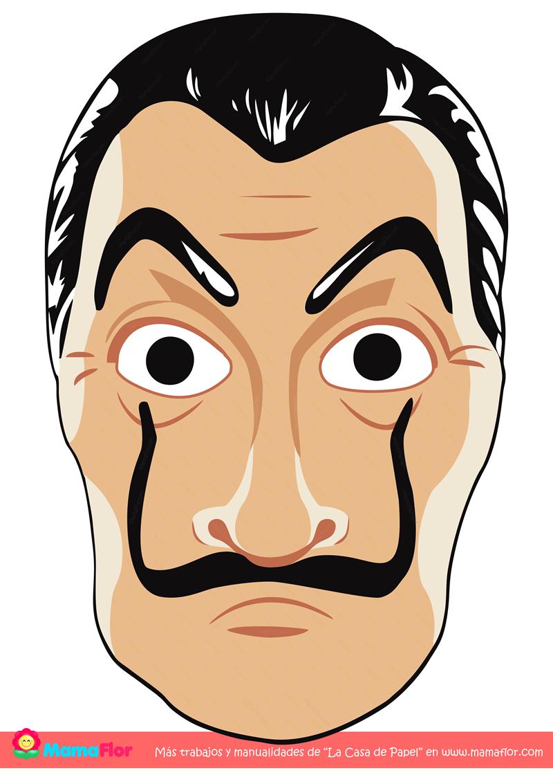 Mascara de los Ladrones a la Casa de Papel