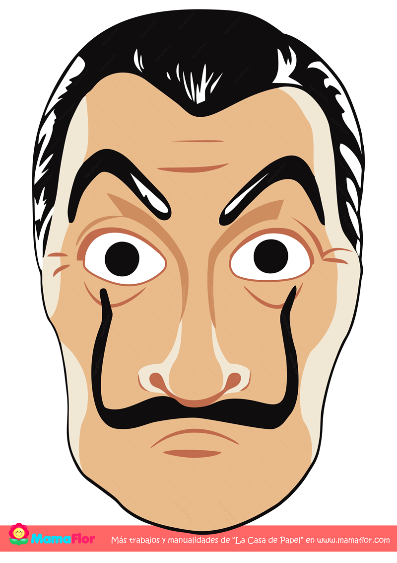 La Casa De Papel Mascara Para Imprimir Manualidades Mamaflor