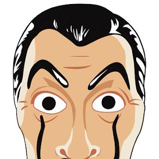 Imprimible: Máscara de Dalí de los ladrones de 'La Casa de Papel'