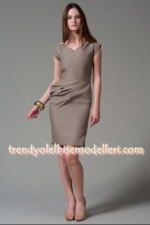 trendyol machka vizon rengi elbise modelleri