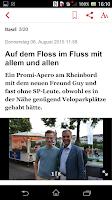 Screenshot of Basler Zeitung