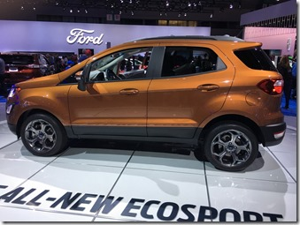 Ford Ecosport new model launch pictures from LA auto show end 2016