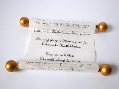 Invitación de boda en pergamino