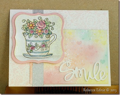 smile tea cup card