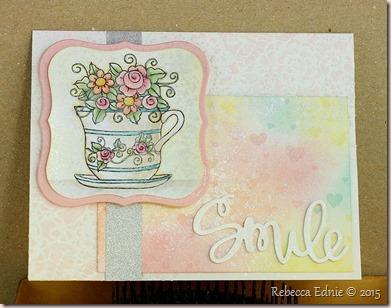smile tea cup card
