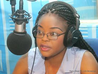 Hortensia Nyange, actrice congolaise. Elle joue dans « Le Sida est une réalité » du réalisateur Toko Watezwa. Radio Okapi/Ph. John Bompengo