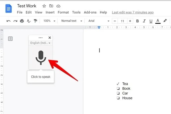 جوجل صوت الكتابة الصوتية