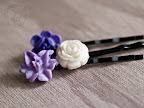 Cool Violets Hair Pins