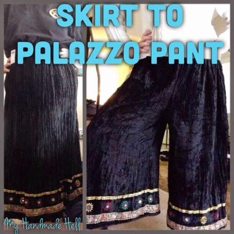 My Handmade Hell Skirt To Palazzo Pant