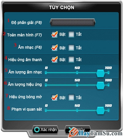 Tùy chọn cấu hình game 2S Zing Speed