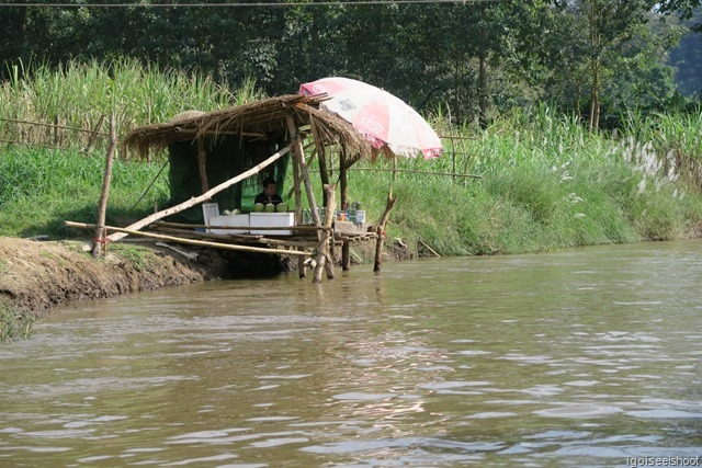 A riverside cafe, for the bamboo rafters.