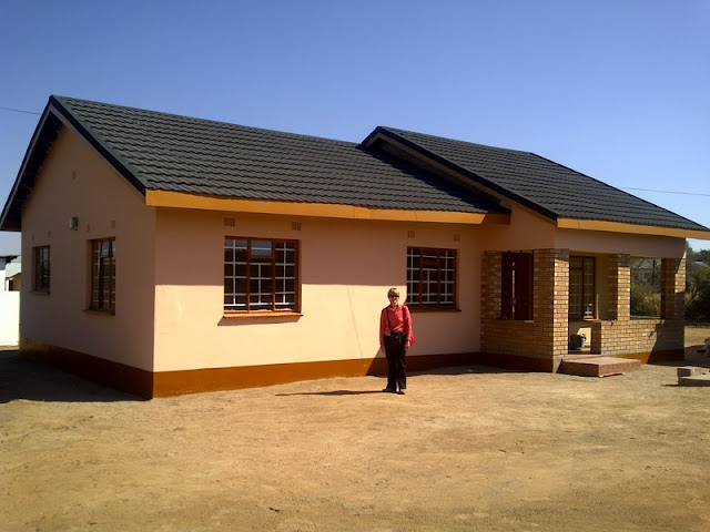 The house (still under construction) that we THINK and HOPE we will be moving into soon