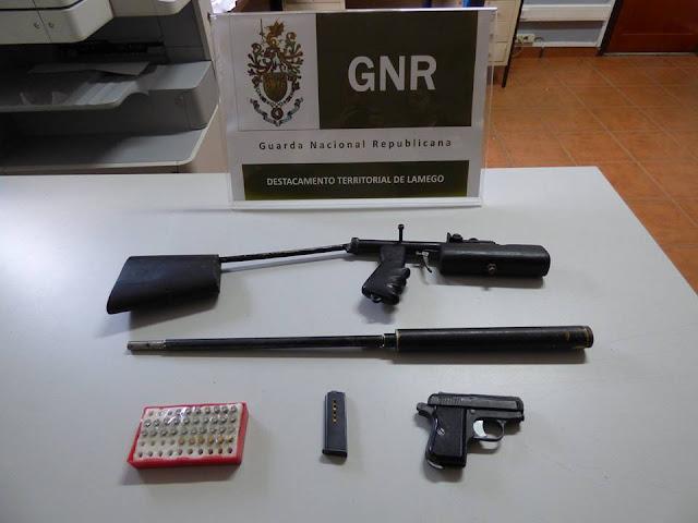 Lamego: Detenção por posse de armas ilegais
