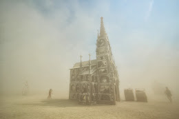 Dust storm blowing through
