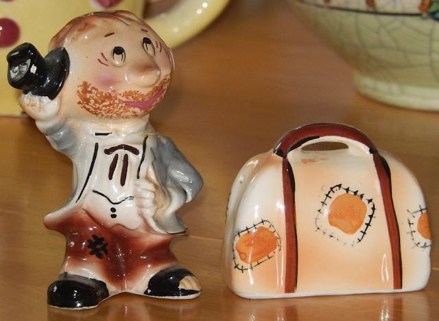 Vintage Hobo Salt & Pepper Shakers