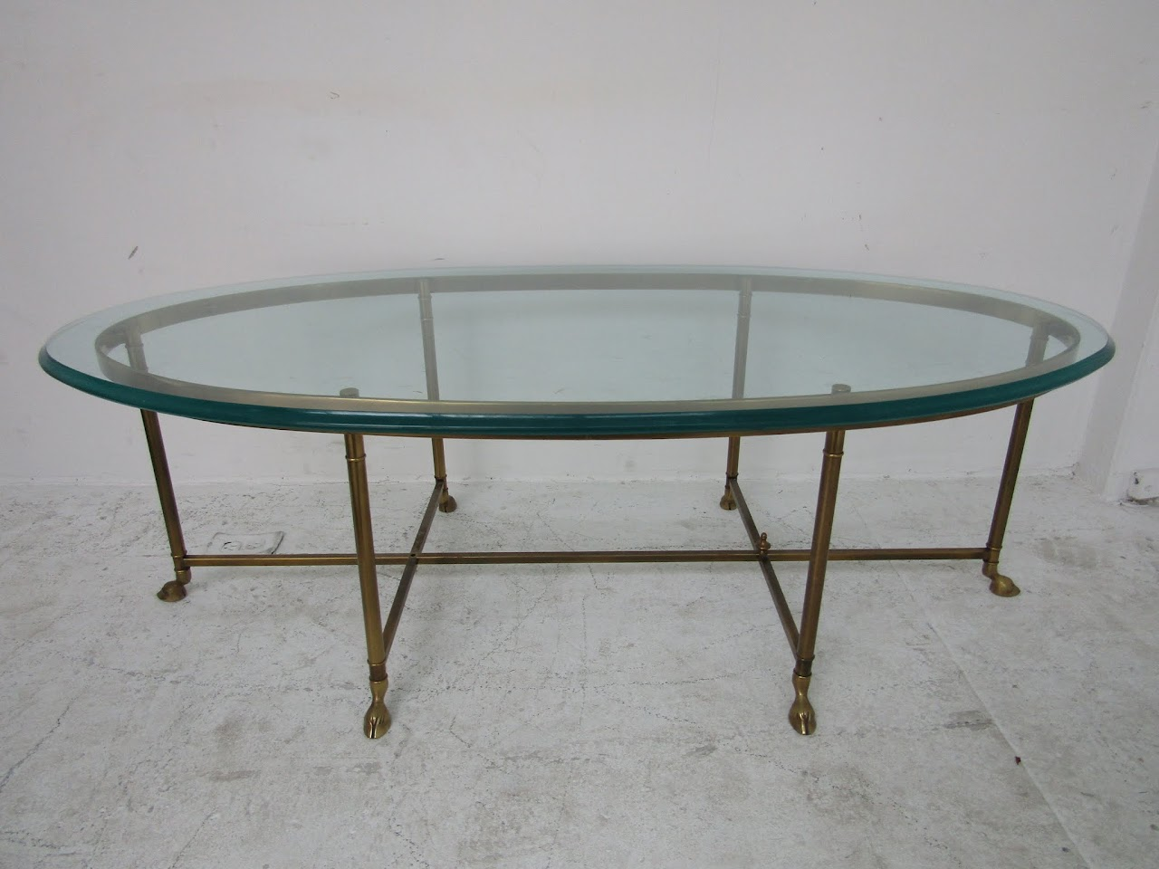 Hoof-Footed Brass Coffee Table