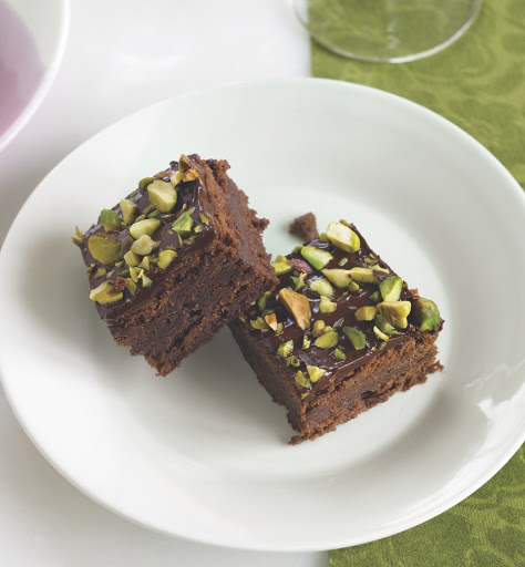 Triple threat chocolate squares