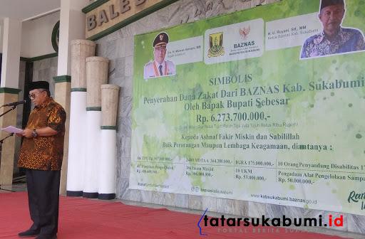 Pemkab Sukabumi dan Baznas Bagikan Dana Zakat Tahun 2019 Senilai 6,273 Milyar