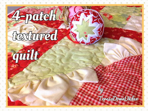 4 patch textured quilt