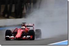Sebastian Vettel nei test del Paul Ricard