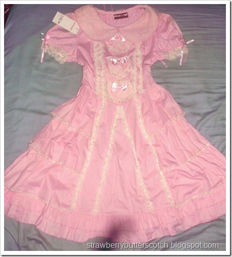 The before photo for the slightly ugly pink Bodyline dress