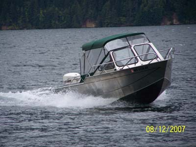 Our ride back down the lake