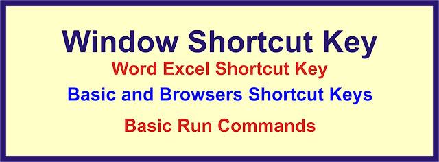 Keyboard Shortcut Keys