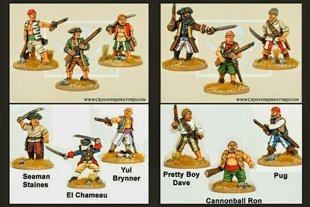 miniaturas de piratas de Crusader miniatures